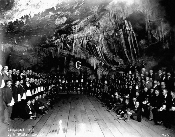 """All over the world caves were believed to be mysterious repositories of occult powers, and used by secret societies for rituals and initiations."" Masonic Cave, Bisbee, Arizona."