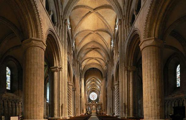 The nave of Durham Cathedral