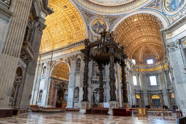 The nave of St Peter's Basilica. Credit: Ioannis Syrigos