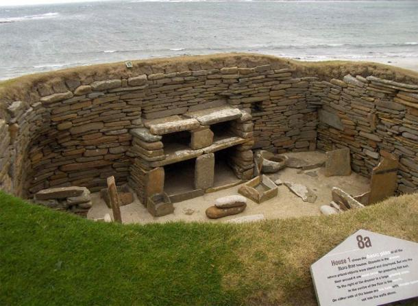 "A Neolithic settlement at Skara Brae in the Orkney Islands. Sir Norman Lockyer suspected this housed ""astronomer-priests"" who studied the heavens, were very adept at making astronomical predictions and were highly venerated by the local population (Solmyr / Public domain)"