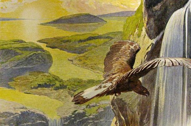 The new world that rises after Ragnarök, as described in Völuspá (depiction by Emil Doepler).