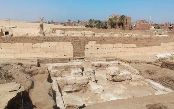 The newly-discovered palace ruins belonging to Ramesses the Great