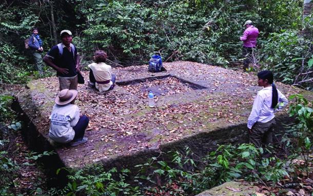 An example of a newly documented temple site in the forests of the Phnom Kulen region