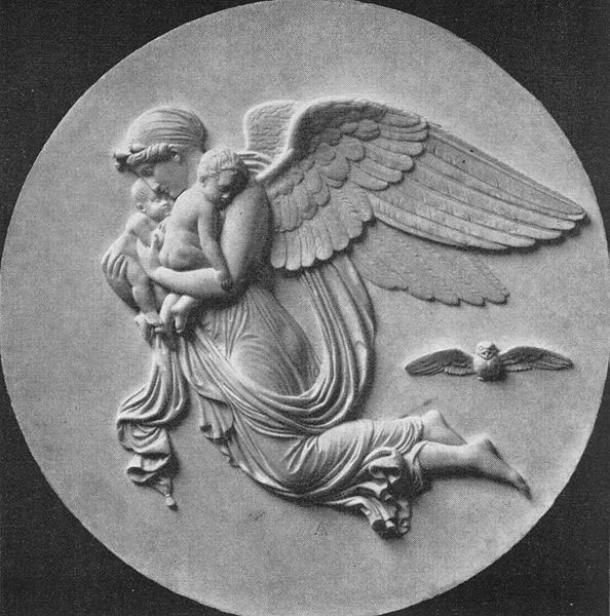 The Night. Marble relief by Bertel Thorvaldsen. (Public Domain)