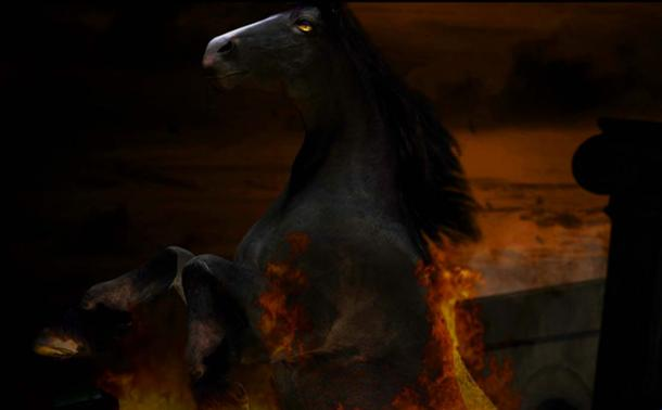 A nightmarish vision of a demon horse (CC BY-SA 2.0)