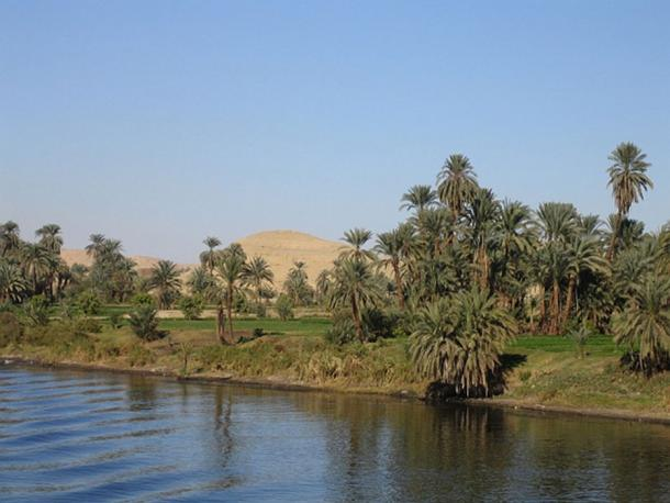 The nilometer calculated the level of the Nile during annual flooding