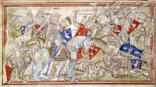 The Battle of Stamford Bridge, from 'The Life of King Edward the Confessor' by Matthew Paris. 13th century. (Public Domain)