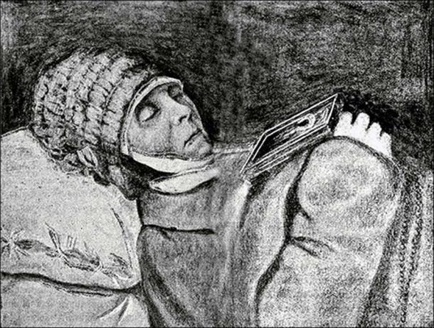 Empress Elizabeth and nun Silent Vera. Pictures: Vesti Tomsk