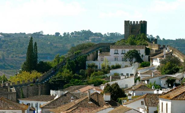 The Óbidos Castle and town in Portugal.