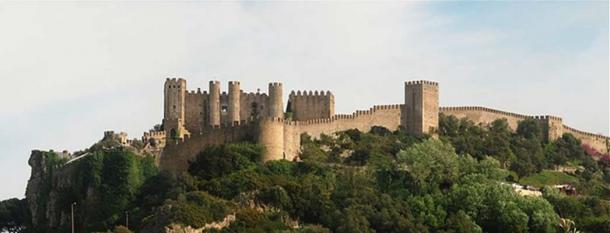 View from the west of the Óbidos castle and walls.