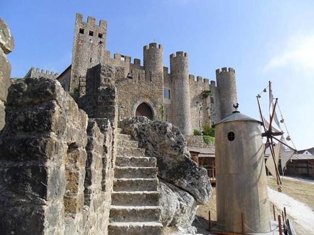 Exterior of the Óbidos pousada in Portugal.