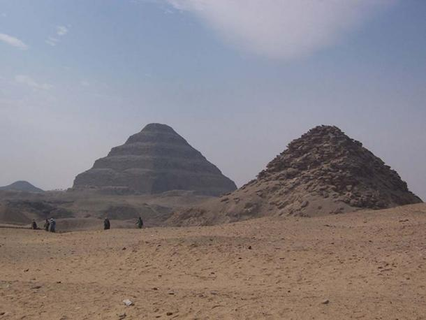One of the oldest necropolises is at Saqqara. Here are the stepped pyramids from the cemetery, where both the rich and poor were interred.