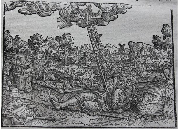 Picture of the Jacob's Ladder in the original Luther Bibles (of 1534 and also 1545)