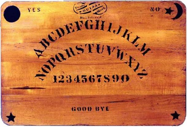 An original Ouija board created in 1894