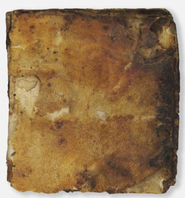 The original leather covering of the oracle, which dates back 1,500 years.