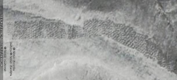 The original remote satellite photograph captured by Google Earth