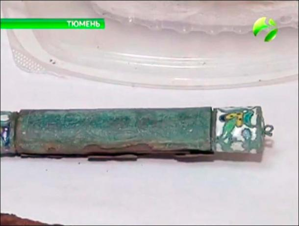 Other discoveries - some dating to the 12th century - were 'several iron knives with handles with enamel decorations produced by Russians' and an intriguing 'lion figurine' of uncertain origin.