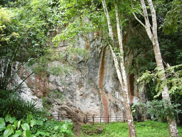 The rock shelter was a place where people worked and later where some were buried.