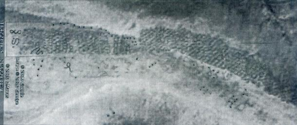 """Patiently overprinting the  satellite photograph, archaeologist William J. Veall was able to make the historic breakthrough which he claims helped to solve the mystery of Peru's infamous """"Band of Holes'""""."""