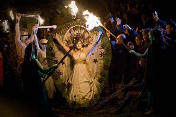 There has been a resurgence of paganism in modern times. Beltane Fire Festival Celebrations.