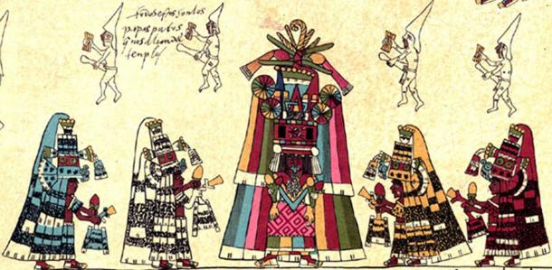 Detail of page 30 of the Codex Borbonicus.