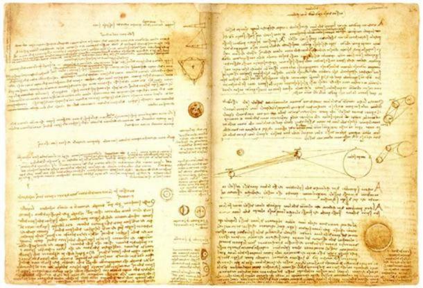 A page from Leonardo da Vinci's Codex Leicester. (Public Domain )