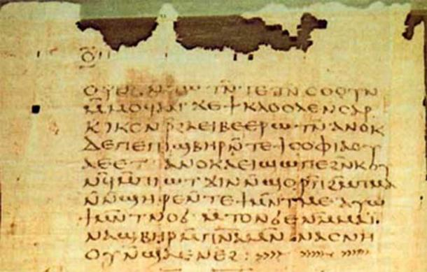 A page from the apocalypse of St. Peter, Nag Hammadi library