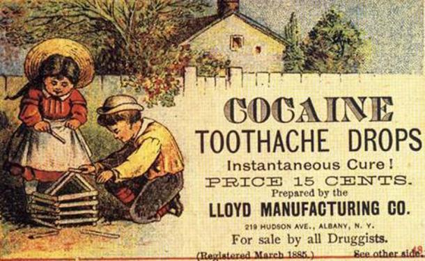 Ze liegt niet... cocaïne was ook een effectieve pijnstiller, maar had zijn eigen problemen (KiloByte / Public Domain)
