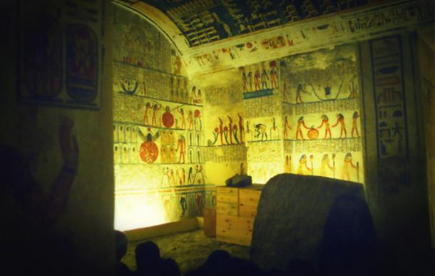 The exquisitely painted tomb of Ramesses V/VI that contains an enormous amount of hieratic graffiti.