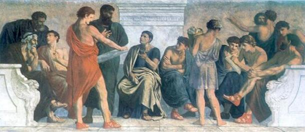 A painting depicting the school of Aristotle. (Gustav Spangenberg  / Public domain)