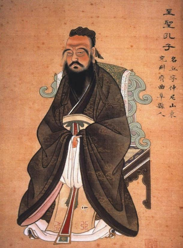 A painting of Confucius from c 1770 AD