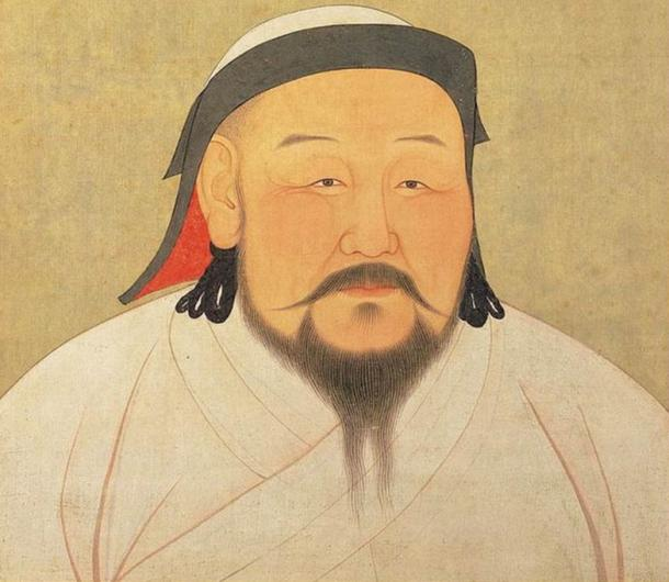 A painting of Shizu, better known as Kublai Khan, as he would have appeared in the 1260s