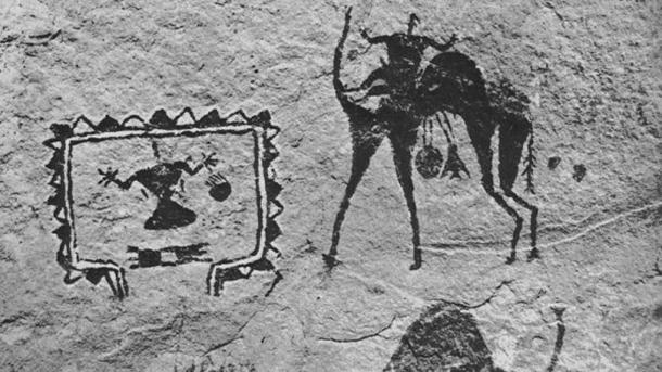 A painting of a two-humped camel was discovered in the Kapova cave.