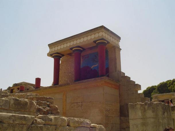 The ruins of the palace of Knossos