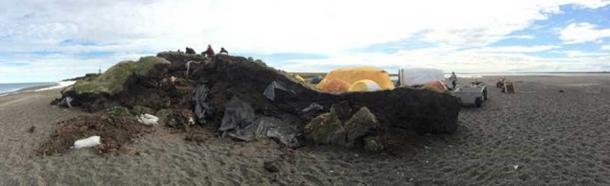 A panoramic image showing erosion at the Walakpa site.