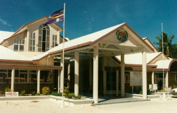 Parliament buildings of Nauru (Public Domain)