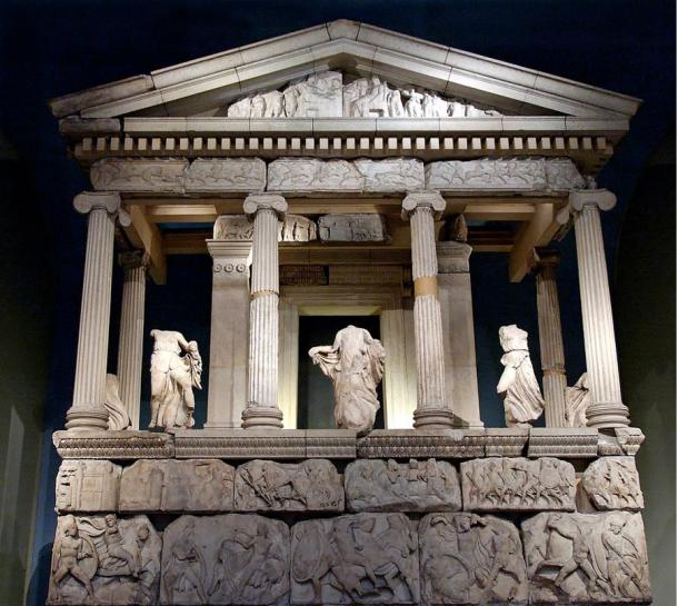 A partial reconstruction of the e Nereid Monument at Xanthos in Lycia