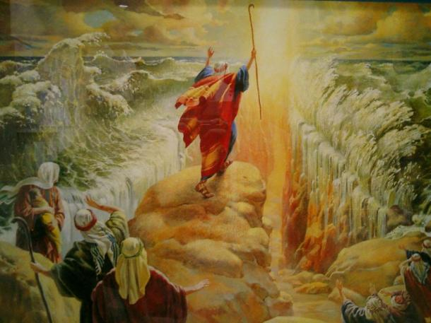 """The """"parting of the waters"""" from the Bible, could have taken place in the lagoon of Shi-Hor, which opened onto the Mediterranean Sea northwest of Sinai, and not in the Red Sea."""