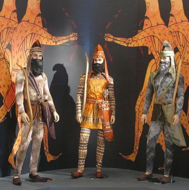 Exhibit of Achaemenid archers