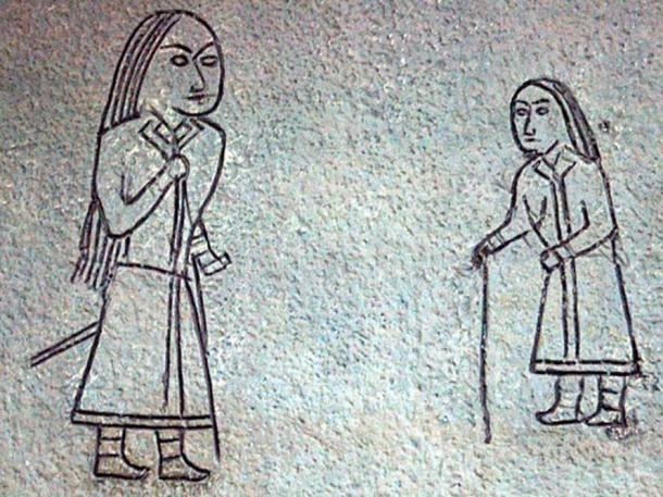Göktürk petroglyphs from Mongolia (6th to 8th century AD)