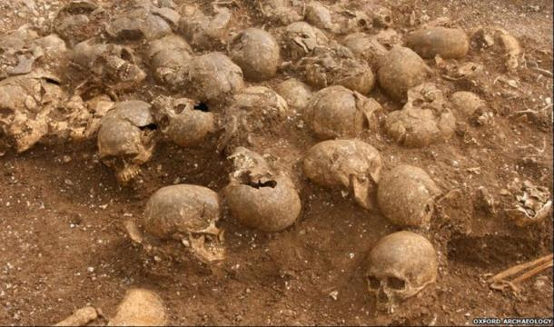 A pile of heads was found separate to the rest of the bodies in a mass grave