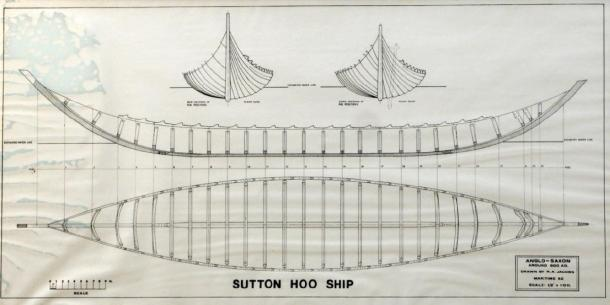 The plans for the reconstruction of the Sutton Hoo ship. (saxonship.org)