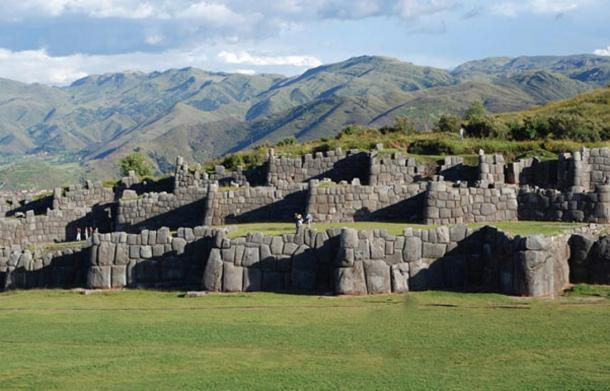 The polygonal walls of Saksaywaman in Peru