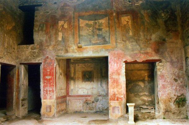 Fresco in a Roman villa from Pompeii