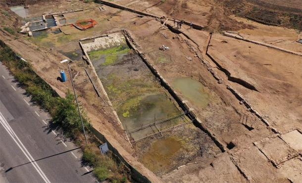 The pool is large and archaeologists are currently left speculating as to its true function. (Soprintendenza Speciale di Roma)