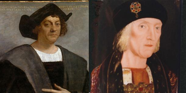 "At left is the ""Columbus"" portrait any schoolchild would recognize, painted by Sebastiano del Piombo in Italy in 1519, and now discredited as a representation of Colón. At right is Pedro Berruguete's portrait of Cristóbal Colón – almost certainly informed by face-to-face contact – and painted prior to 1504 in Spain, where Berruguete was court painter."