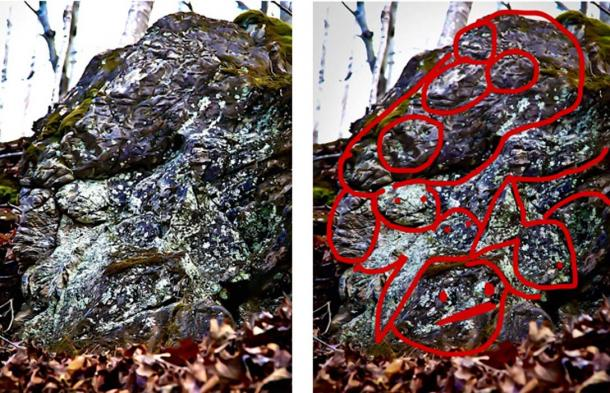 Rock cuts or possible petroglyphs