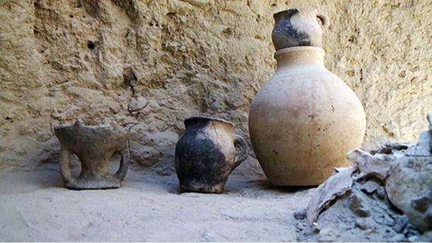 The warrior woman had some large pots and water jars in her grave, indicating some degree of wealth, researchers said.