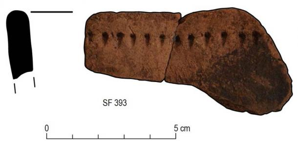 Archaeologists discovered several pottery sherds at the Hirta excavation in the Scottish archipelago of St. Kilda. This image shows decorated rim sherds