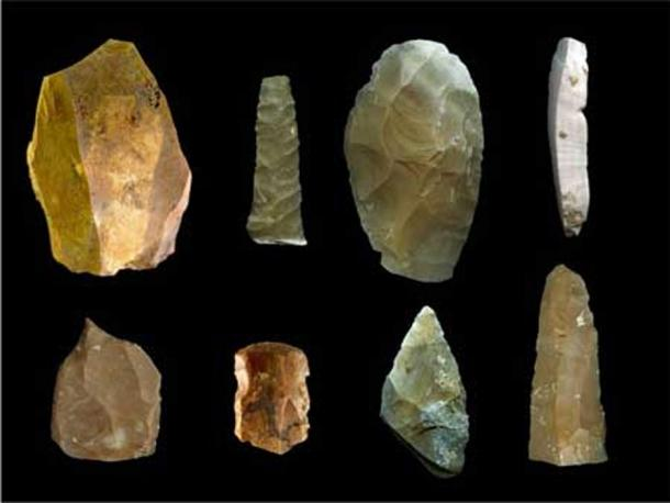 The pre-Clovis artifacts include more than 90 stone tools, such as bifaces and blades, and more than 160,000 flakes left over from the point-making process.